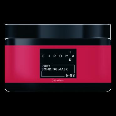 CHROMAID Ruby Saites stiprinošā tonējošā maska lietošanai mājās ar rubīna toni 250ml