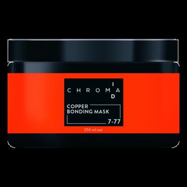 CHROMAID Copper Saites stiprinošā tonējošā maska lietošanai mājās ar vara toni 250ml