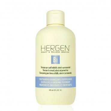 B1 Šampūns nogurušiem, krāsotiem, ilgviļnotiem matiem 400 ml