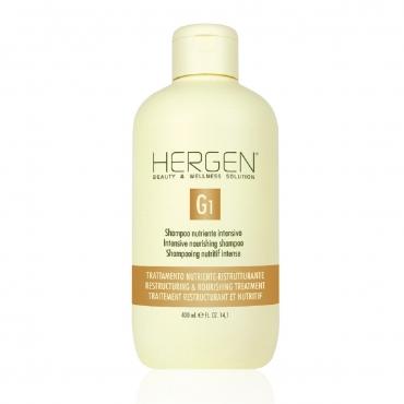 HERGEN Intensīvi barojošs šampūns, kas īpaši radīts sausu, trauslu un bojātu matu maigai tīrīšanai un barošanai. Padara matus ārkārtīgi mīkstus, un intensīva barošana no galvas ādas līdz pat matu galiņiem, kā rezultātā mati ir dabiski mīksti un maigi.