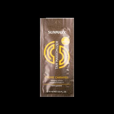 Sunmax Sauļošanās krēms ar paštonējošām sastāvdaļām un karameļu aromātu 15ml