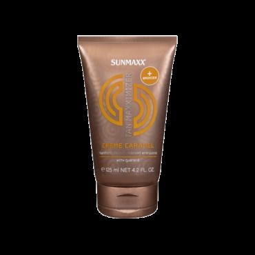Sunmax sauļošanās krēms ar paštonējošām sastāvdaļām un karameļu aromātu 125ml